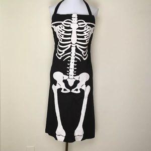 Skeleton Apron 100% Cotton Halloween Biology Gift